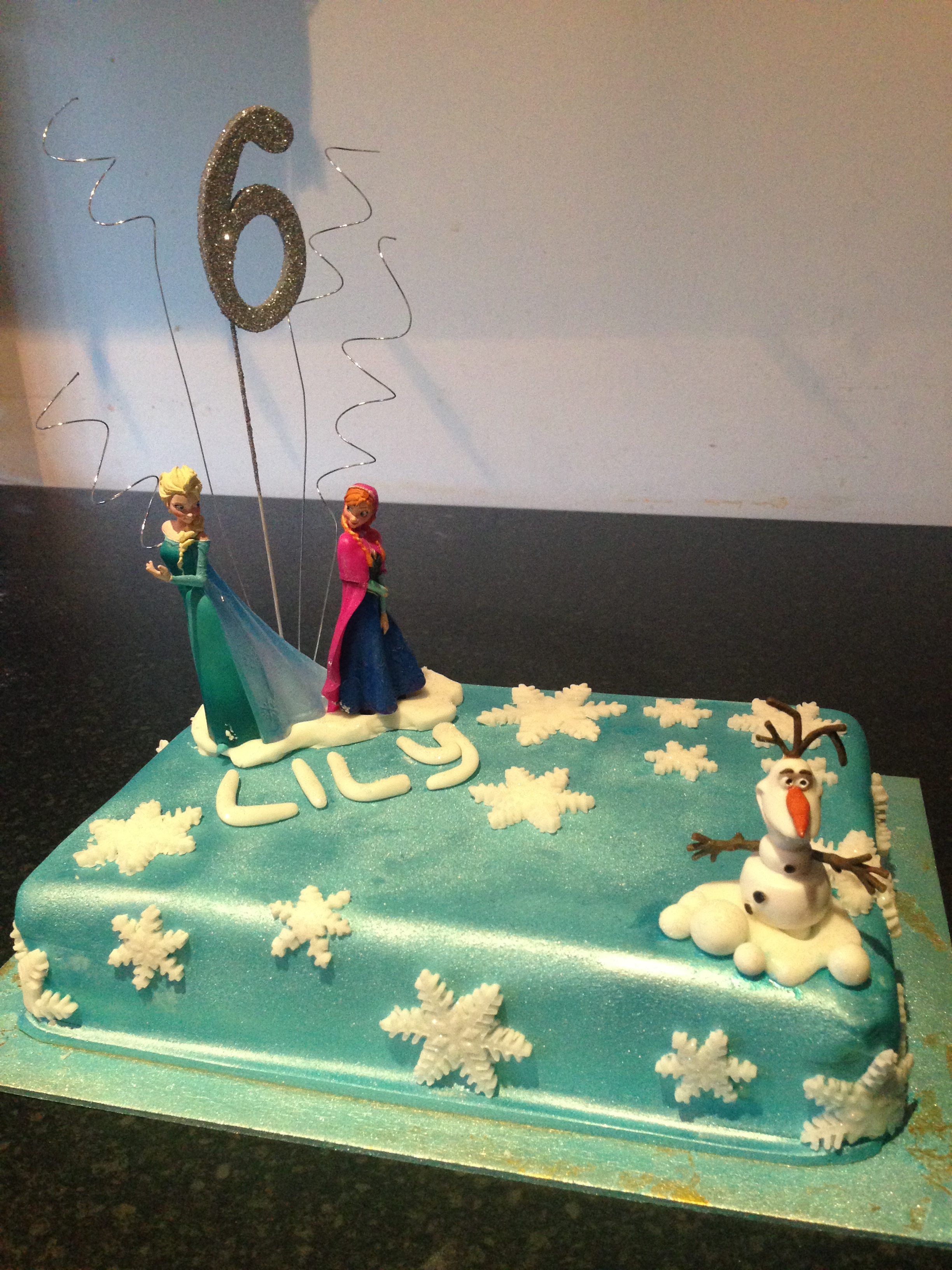 Frozen Cake Decorations Asda : Cheats Frozen Birthday Cake.   Diary of a Fat Bottomed Girl