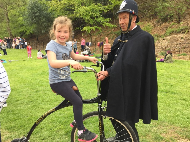 Penny Farthing at Quarry Bank Mill May Day