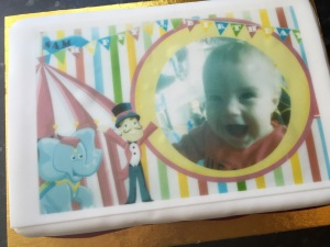 asda photo cake for a first birththday