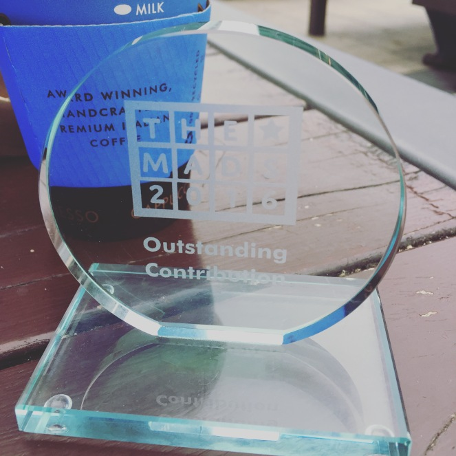MAD Blog Awards 2016, Finalist, Outstanding Contribution, Tots100